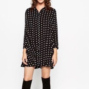 Zara black polka dots dress